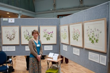 Laura at the RHS at Vincent Square with her set of pictures.